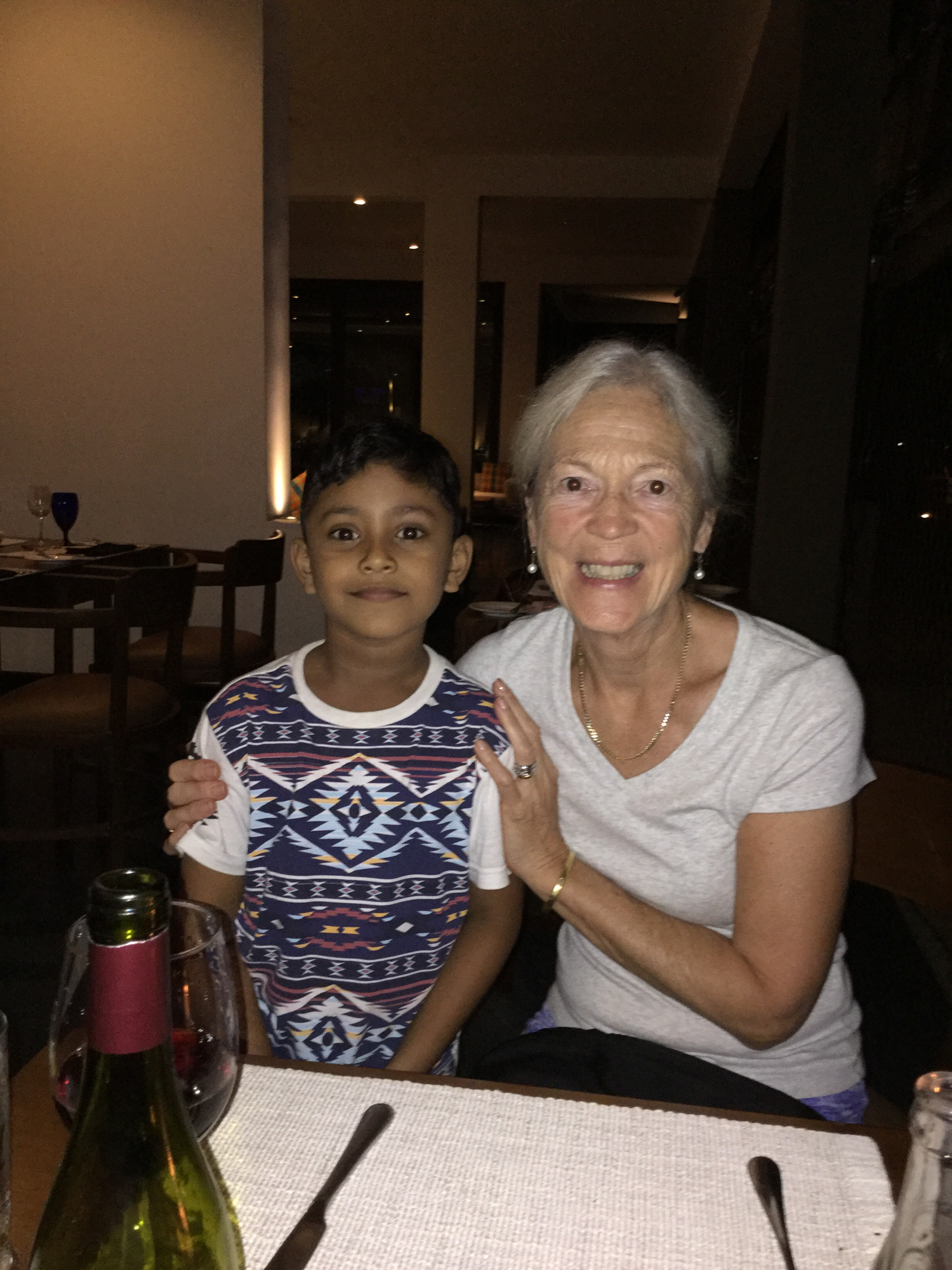Recognised at dinner in the hotel. This very friendly chap came over to chat to us.